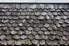 老木屋顶 免版税库存图片
