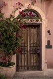 老木巨型的门 免版税库存照片