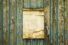 老木布告牌,增加您的文本 免版税库存照片