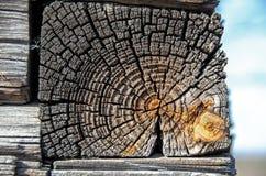 老木房子墙壁的片段  免版税库存图片