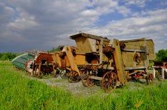 老木收割机 免版税库存照片