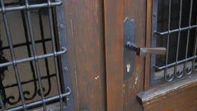 老木教会门 影视素材