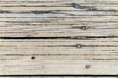 老木板条有钉子背景 库存图片