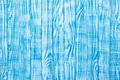 老木桌,被绘的木头蓝色表面  古色古香的纹理, 免版税库存图片