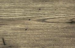 老木桌以抓痕 免版税图库摄影