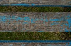 老木椅子铺板纹理 木板条 免版税库存照片