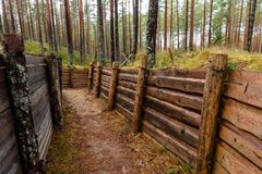 老木沟槽在拉脱维亚 库存图片