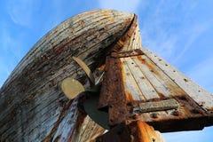 老木渔船akranes冰岛 库存照片