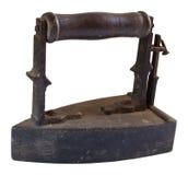 老木炭平面的铁 免版税库存照片