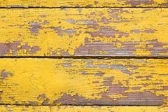 老木破旧的黄色背景或纹理 库存图片