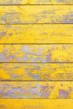 老木破旧的黄色背景或纹理 库存照片