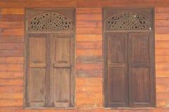 老木窗口背景图象 免版税库存图片