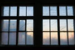 老木窗口,自由空间 免版税图库摄影