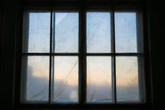 老木窗口,自由空间 免版税库存图片