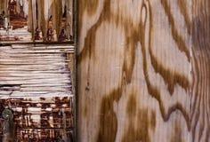 老木箱片段 免版税库存图片