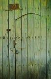 老木绿色门- Vigan 免版税库存图片