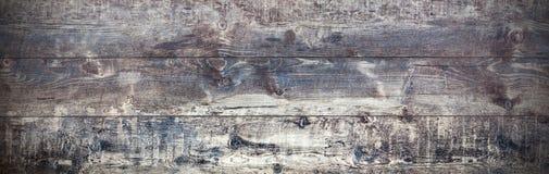 老木背景,全景减速火箭的土气板 免版税库存图片