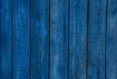 老木蓝色水平的委员会 与拷贝空间的正面图 免版税库存图片
