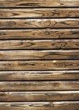 老木被绘的板条 库存照片