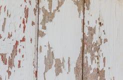 老木被绘的和切削的油漆纹理 免版税库存图片