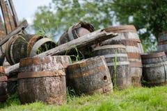 老木酒桶 库存照片