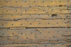 老木门建筑充分的框架背景 免版税库存图片