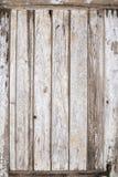 老木门被绘的背景 免版税库存图片