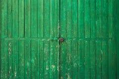 老木门绿色 库存图片
