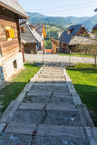 老木阶段在Drvengrad,塞尔维亚 库存图片