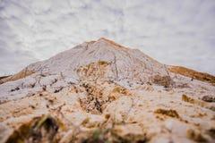 老未使用的白陶土矿 库存照片