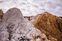 老未使用的白陶土矿 库存图片