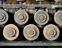 从老机制的齿轮 免版税库存图片