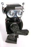 老机器人罐子玩具 免版税库存图片