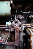 老机器生锈的金属 免版税库存照片