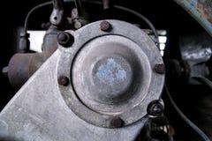 老机器的金属零件 库存照片