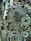 老机器零件背景  免版税库存照片