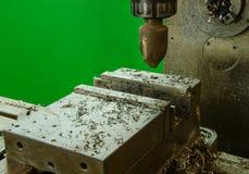 老机器钻井工作 库存图片