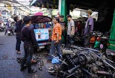 老机械工具工厂在曼谷,泰国 库存照片
