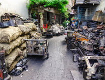 老机械工具工厂在曼谷,泰国 图库摄影