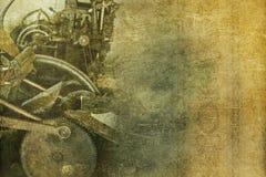 老机械葡萄酒背景 免版税图库摄影
