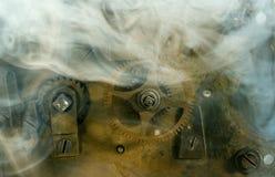 老机械设备摘要图象的片段 免版税库存照片