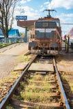 老机车停放的主要火车站在科希策斯洛伐克 库存照片