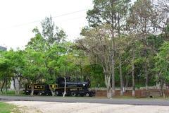 老机车在特古西加尔巴,洪都拉斯 免版税图库摄影