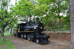 老机车在特古西加尔巴,洪都拉斯 免版税库存图片