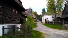 老村庄在斯洛伐克 免版税库存图片