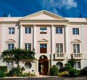 老村庄在阿尔加威,葡萄牙是在18世纪葡萄牙语建立的280物产的一汇集和英语 免版税库存图片