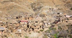 老村庄在阿特拉斯山脉 免版税库存照片