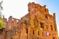 老村庄废墟在伊卜拉阿曼 库存图片