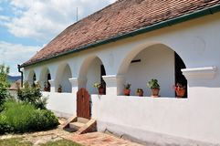 老村庄房子 图库摄影
