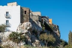 老村庄,撒丁岛,意大利 免版税库存图片